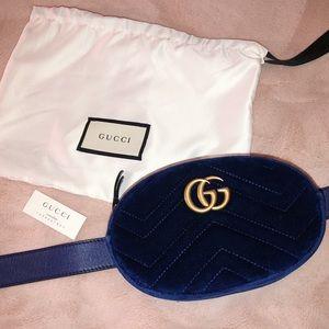 Gucci Marmont Matelassé Velvet Belt Bag
